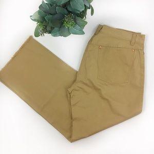 ⬇️$38 J.Crew Button Fly Raw Hem Wide Leg Jeans 8
